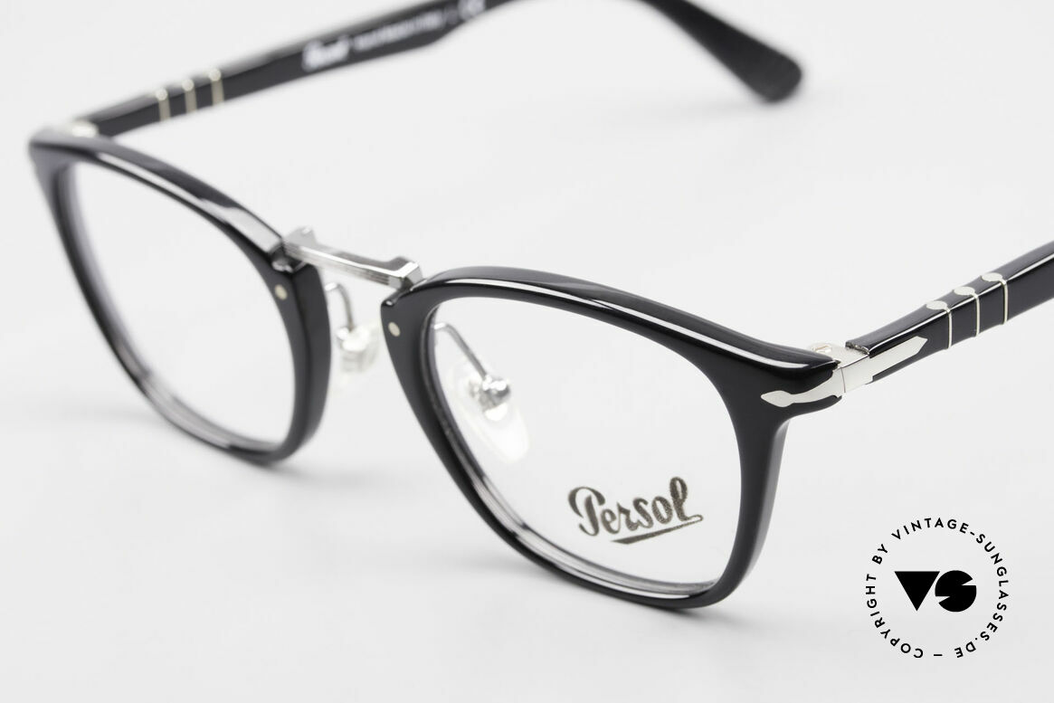 Persol 3109 Typewriter Edition Eyewear, reissue of the old vintage Persol RATTI models, Made for Men and Women