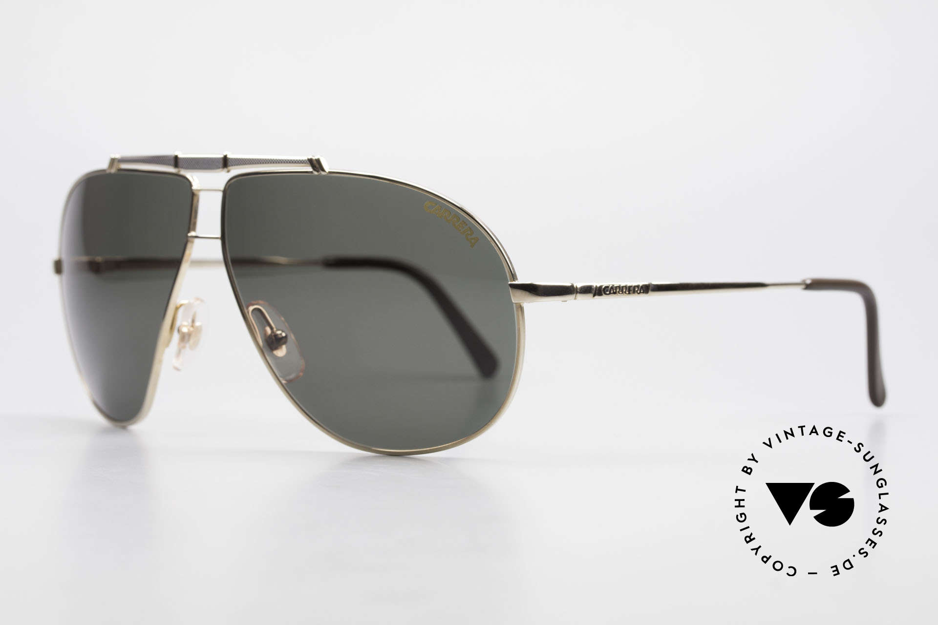 Carrera 5401 Large Aviator Shades Extra Lenses, top craftsmanship and noble frame finish in gold/titan, Made for Men