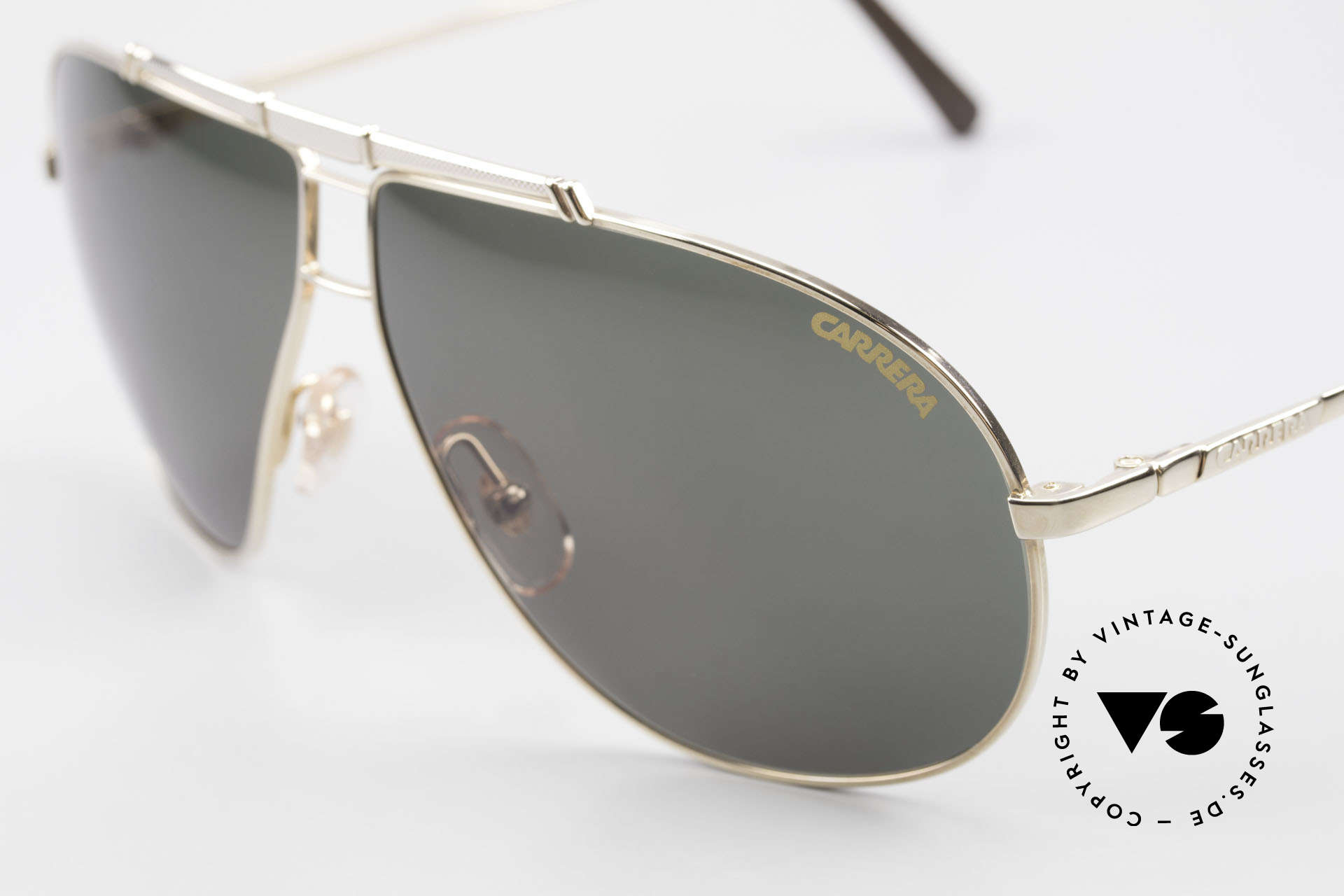 Carrera 5401 Large Aviator Shades Extra Lenses, vintage rarity comes with 1 pair replacement sun lenses, Made for Men