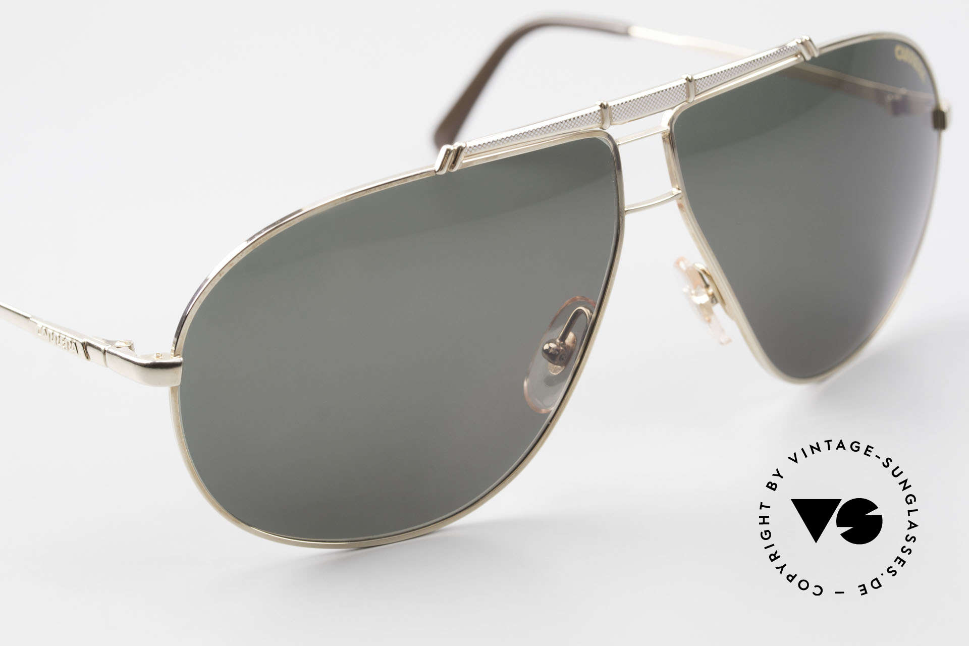 Carrera 5401 Large Aviator Shades Extra Lenses, unworn, NOS (like all our VINTAGE Carrera sunglasses), Made for Men