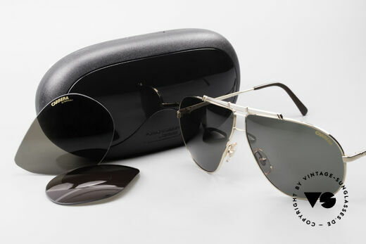 Carrera 5401 Large Aviator Shades Extra Lenses, NO RETRO SHADES, but a rare 30 years old ORIGINAL!, Made for Men