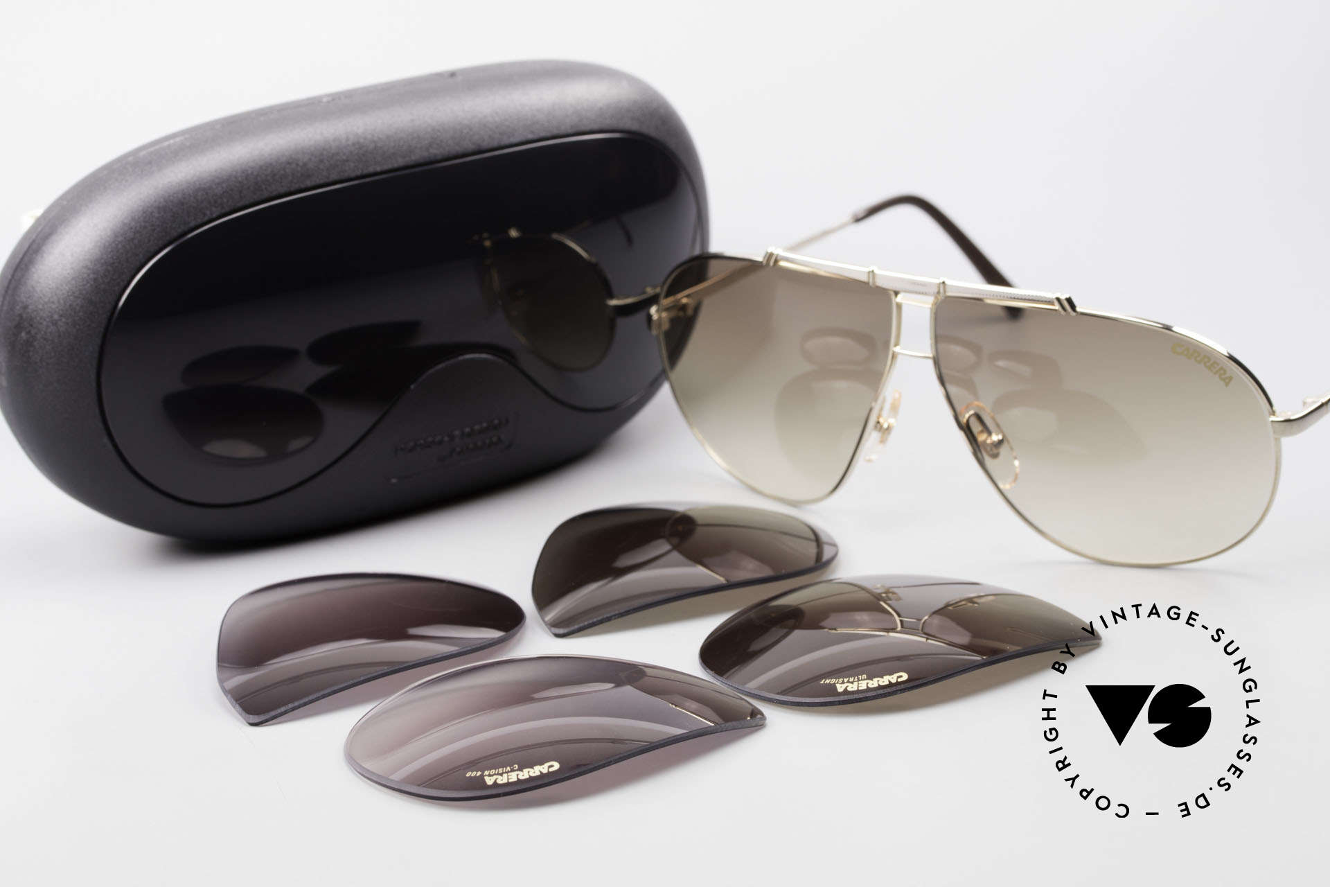 Carrera 5401 Small 80's Shades 3 Sets of Lenses, Size: medium, Made for Men and Women