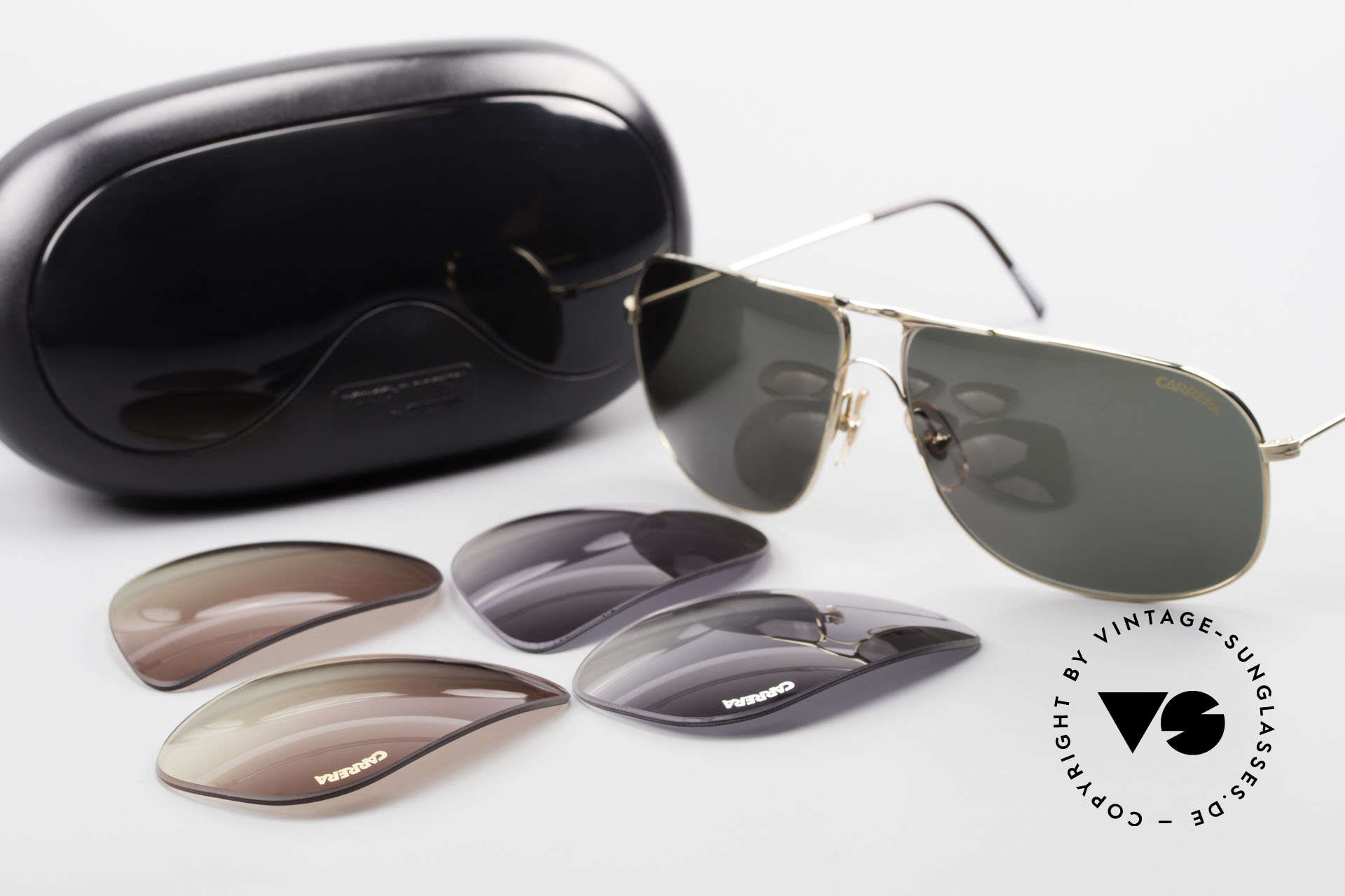 Carrera 5422 Shades With 3 Sets of Lenses, Size: extra large, Made for Men