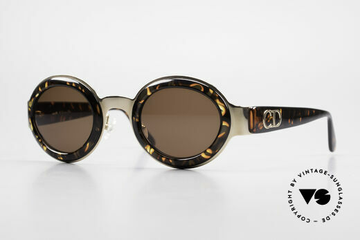 Christian Dior 2037 Round Ladies Sunglasses 90's Details