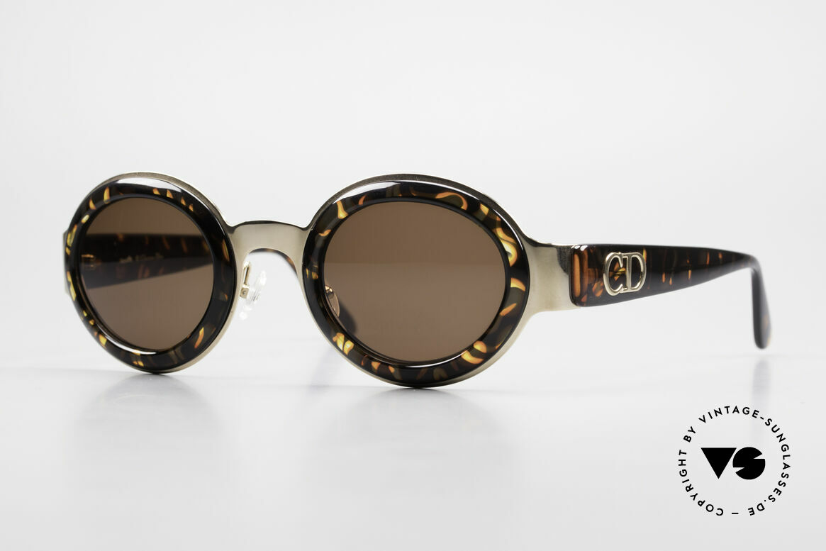 Christian Dior 2037 Round Ladies Sunglasses 90's, round CHRISTIAN DIOR ladies designer sunglasses, Made for Women