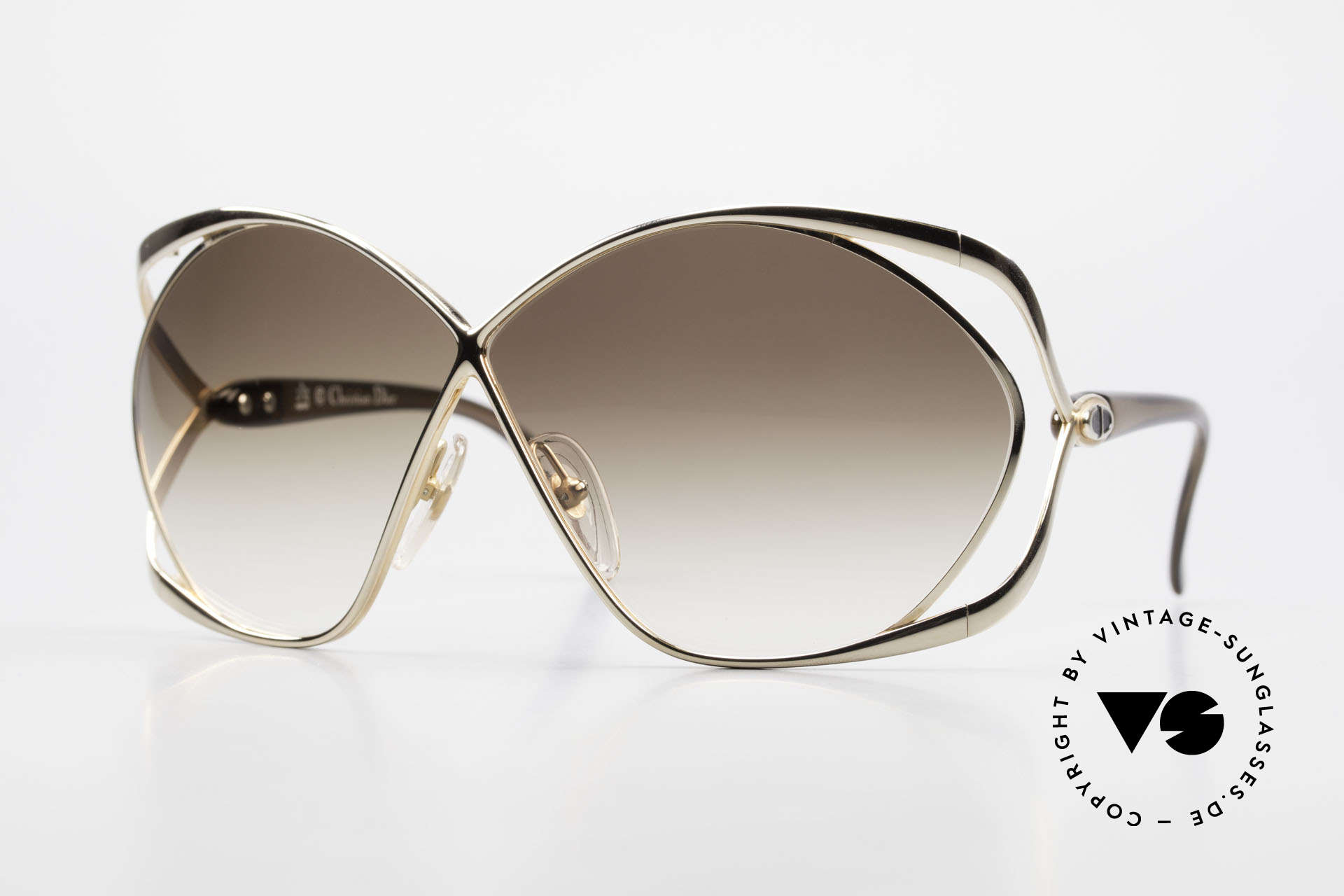 Christian Dior 2056 Butterfly 80's Sunglasses, glamorous designer sunglasses by CHRISTIAN DIOR, Made for Women
