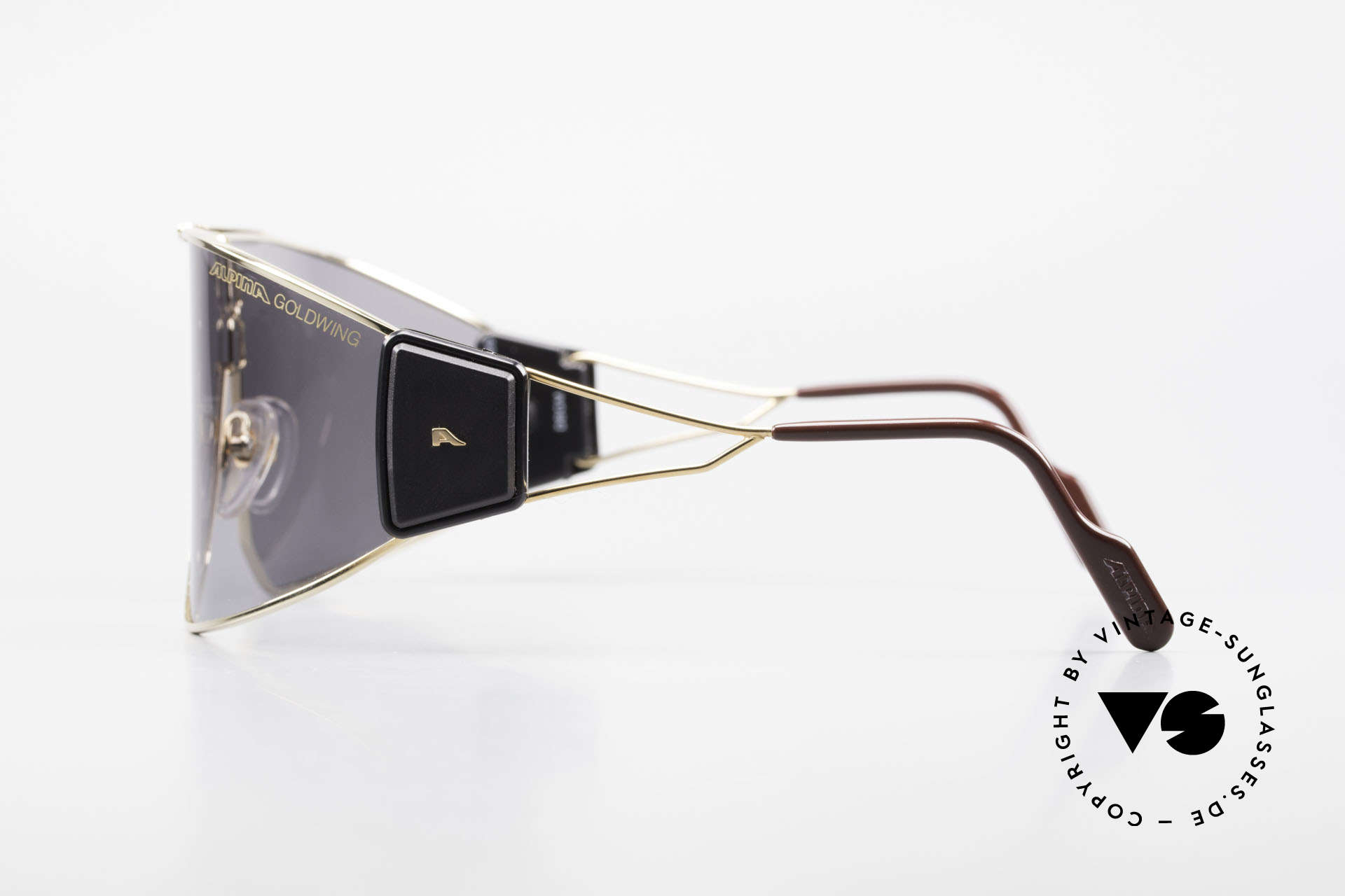 Alpina Goldwing Rare Celebrity Sunglasses 80's, almost impossible to get, today (a real museum piece), Made for Men and Women