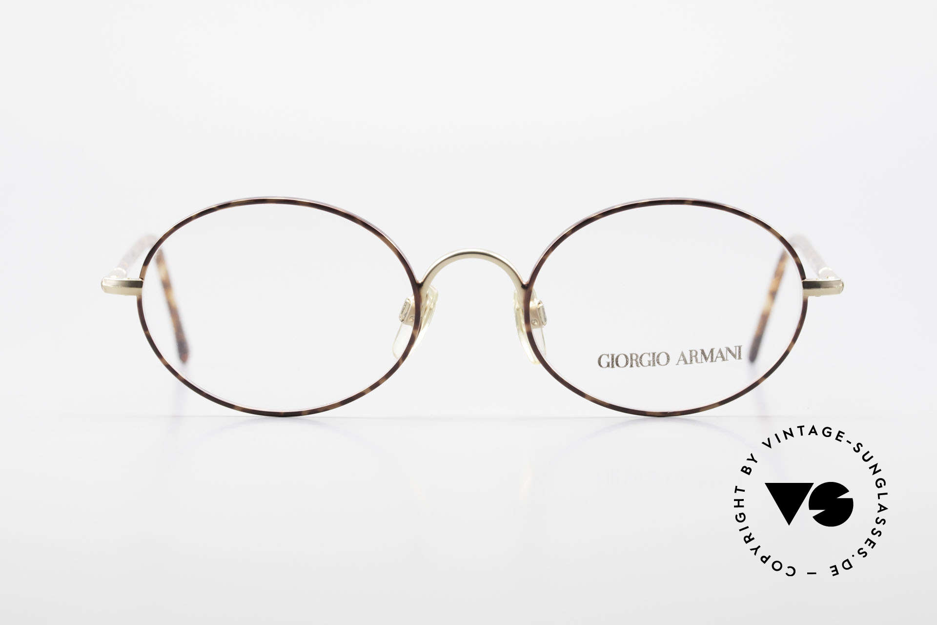 Giorgio Armani 189 Classic Oval Designer Frame, tangible premium-quality with flexible spring hinges, Made for Men