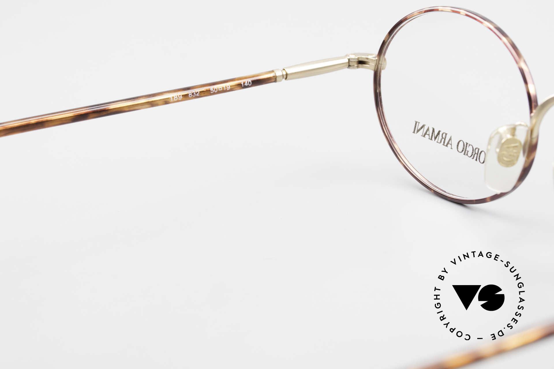 Giorgio Armani 189 Classic Oval Designer Frame, DEMO lenses should be replaced with prescriptions, Made for Men