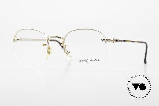 Giorgio Armani 161 Rimless Vintage Eyeglasses 80s Details