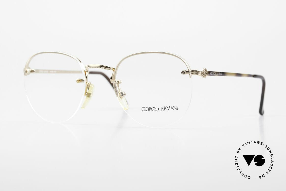 Giorgio Armani 161 Rimless Vintage Eyeglasses 80s, interesting GIORGIO ARMANI vintage designer specs, Made for Men and Women