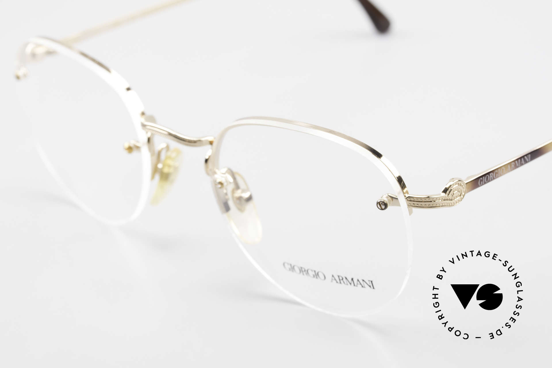 Giorgio Armani 161 Rimless Vintage Eyeglasses 80s, unworn, NOS, one of a kind and outstanding quality, Made for Men and Women