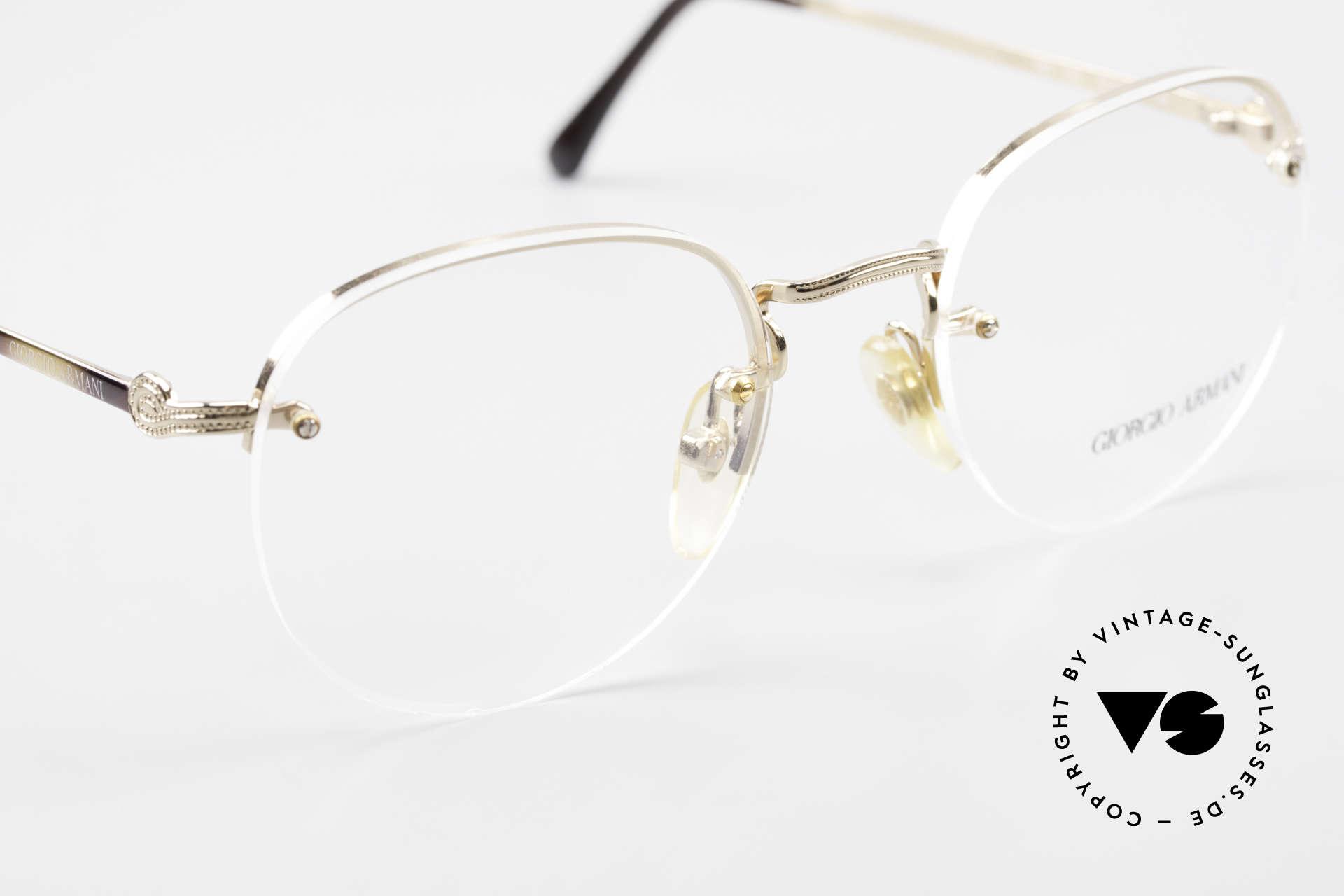 Giorgio Armani 161 Rimless Vintage Eyeglasses 80s, NO RETRO EYEGLASSES, but true 1980's commodity, Made for Men and Women