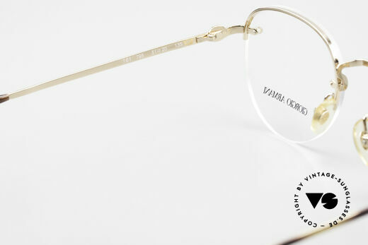 Giorgio Armani 161 Rimless Vintage Eyeglasses 80s, DEMO lenses should be replaced with opticial lenses, Made for Men and Women