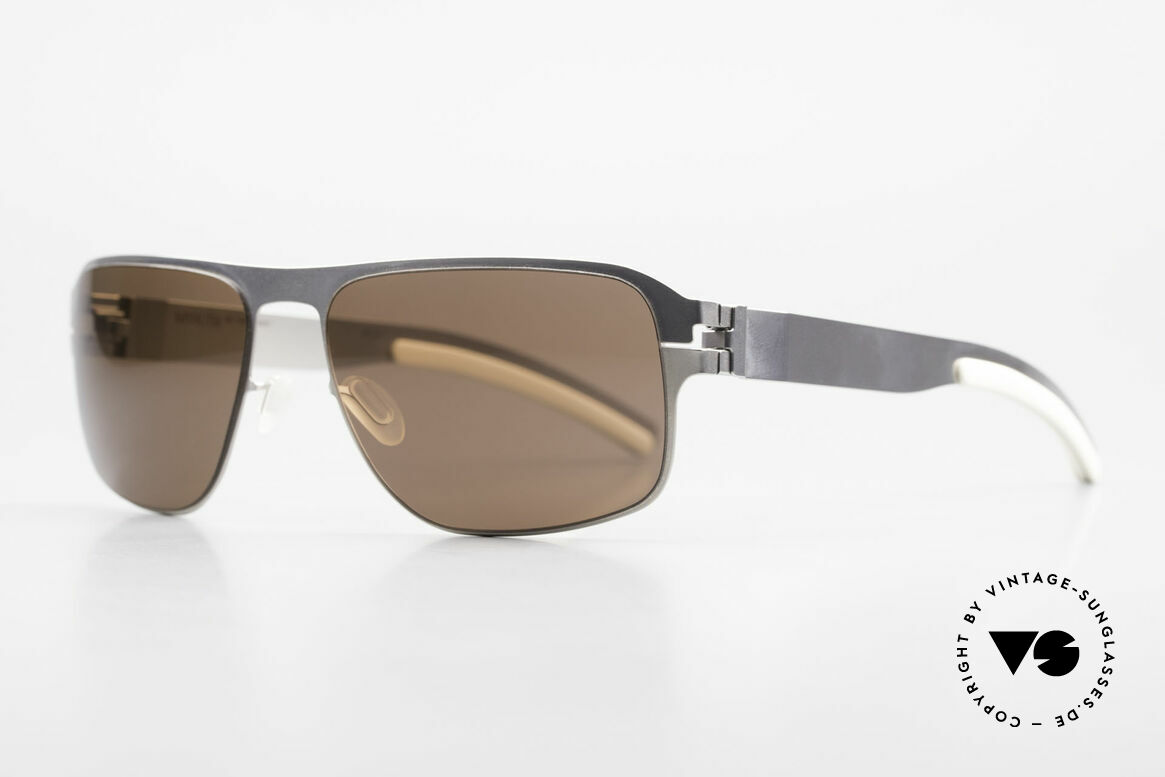 Mykita Lennox Sporty Designer Sunglasses, Collection No.1, Lennox Pearl, brown solid, size 57/17, Made for Men