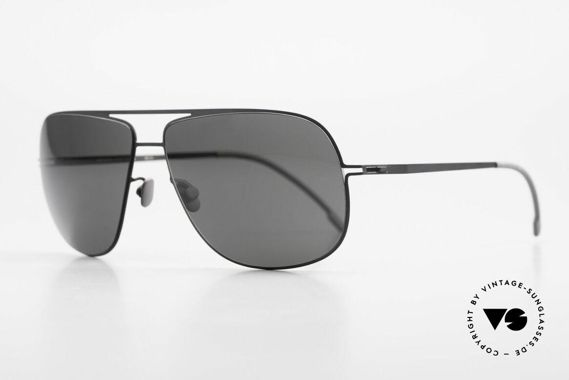 Mykita Jon Lite Metal Designer Sunglasses, Model LITE Sun JON Black, black-solid, in size 60-13, Made for Men and Women