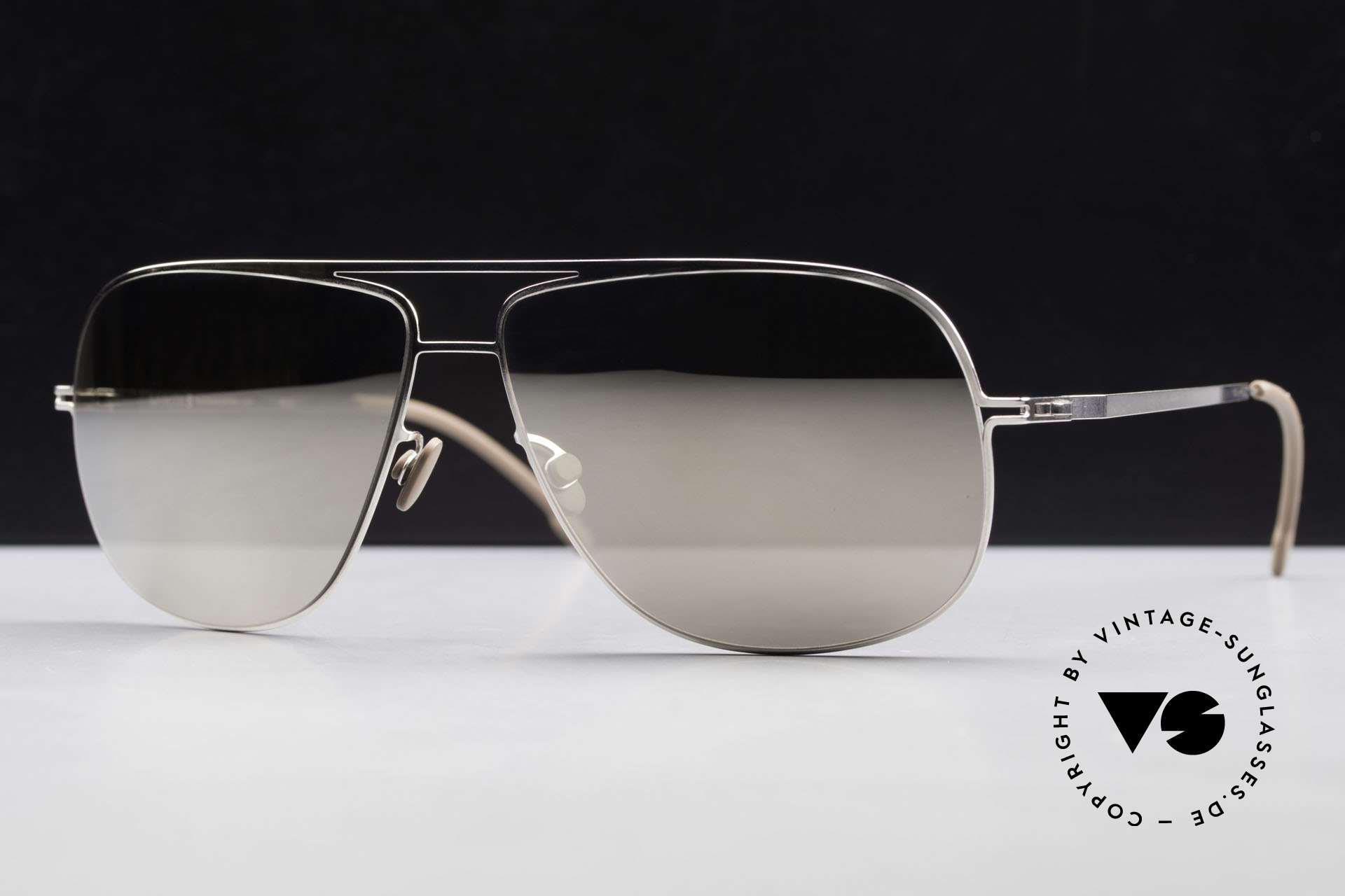 Mykita Jon Limited Platinum Edition 2011, top-notch quality with SILVER-MIRRORED sun lenses, Made for Men and Women