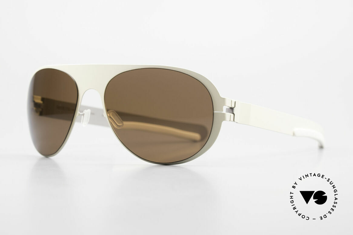 Mykita Winston Limited Designer Sunglasses, Limited Flash Winston Ivory SS10M, brown solid, 59/17, Made for Men