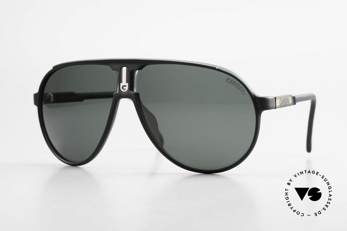 Carrera 5407 80's Sports Pilot's Sunglasses, old 1980's sports aviator sunglasses by CARRERA, Made for Men