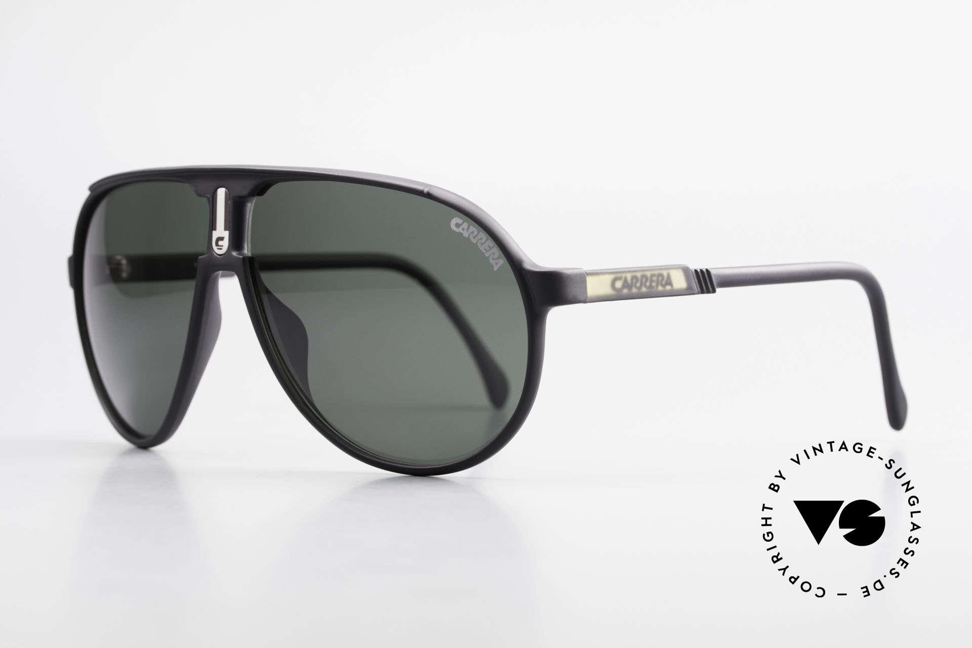 Carrera 5407 80's Sports Pilot's Sunglasses, sturdy, durable, lightweight plastic frame; Optyl, Made for Men