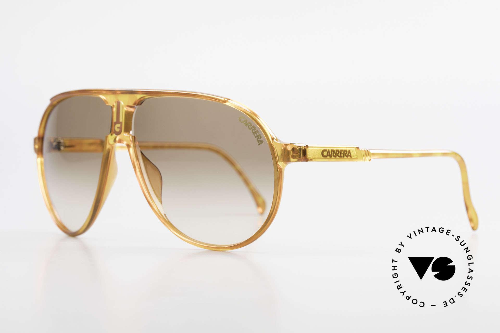 Carrera 5407 80's Sports Aviator Sunglasses, sturdy, durable, lightweight plastic frame; Optyl, Made for Men