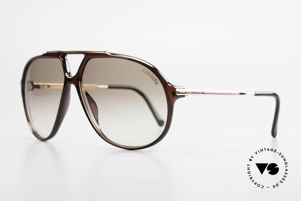 Carrera 5405 Old 90's Aviator Sunglasses, brown-gradient sun lenses (for 100% UV protection), Made for Men