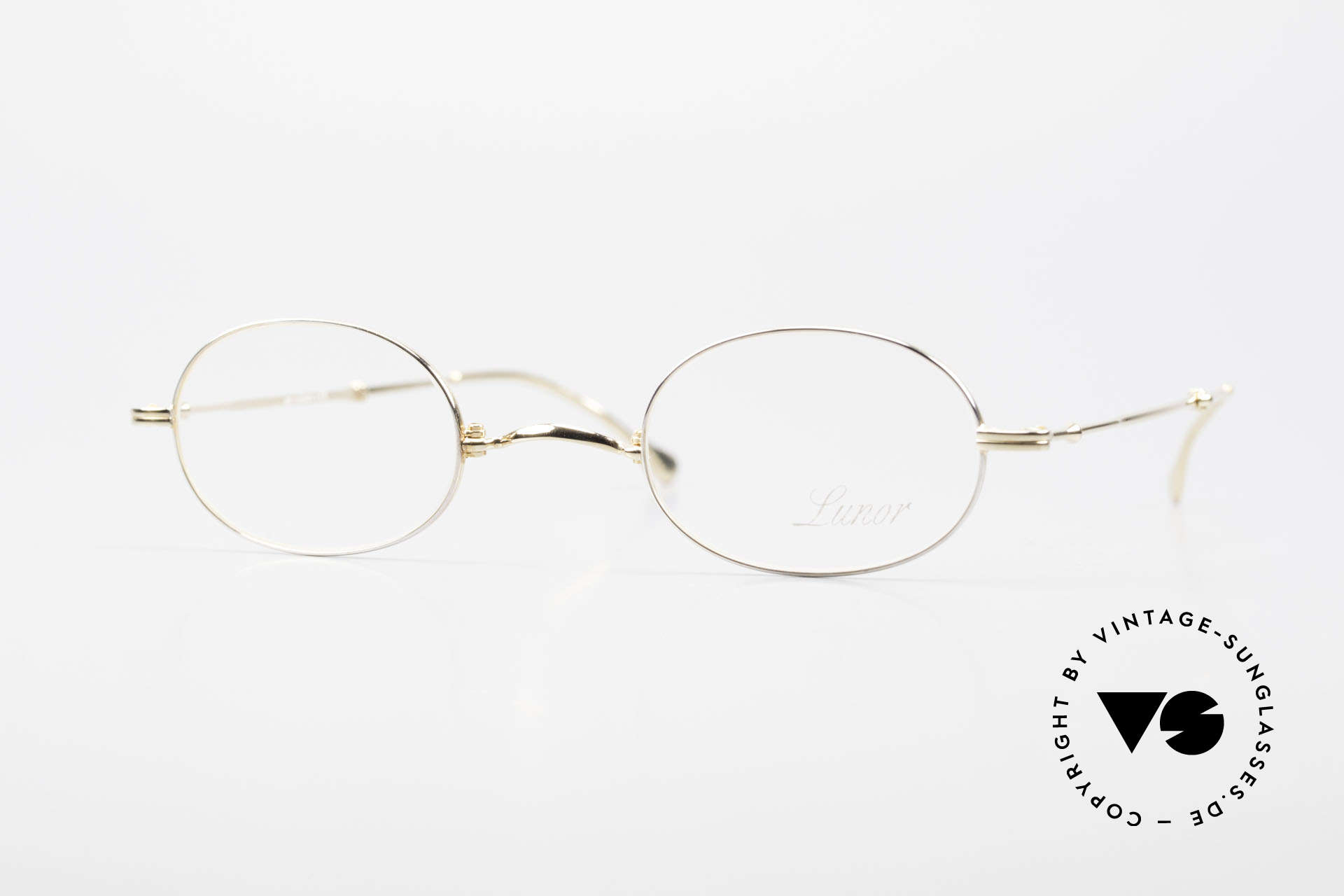 """Lunor XXV Folding 04 Oval Foldable Frame Gold Plated, Lunor: shortcut for French """"Lunette d'Or"""" (gold glasses), Made for Men and Women"""