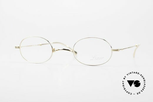 Lunor XXV Folding 04 Oval Foldable Frame Gold Plated Details