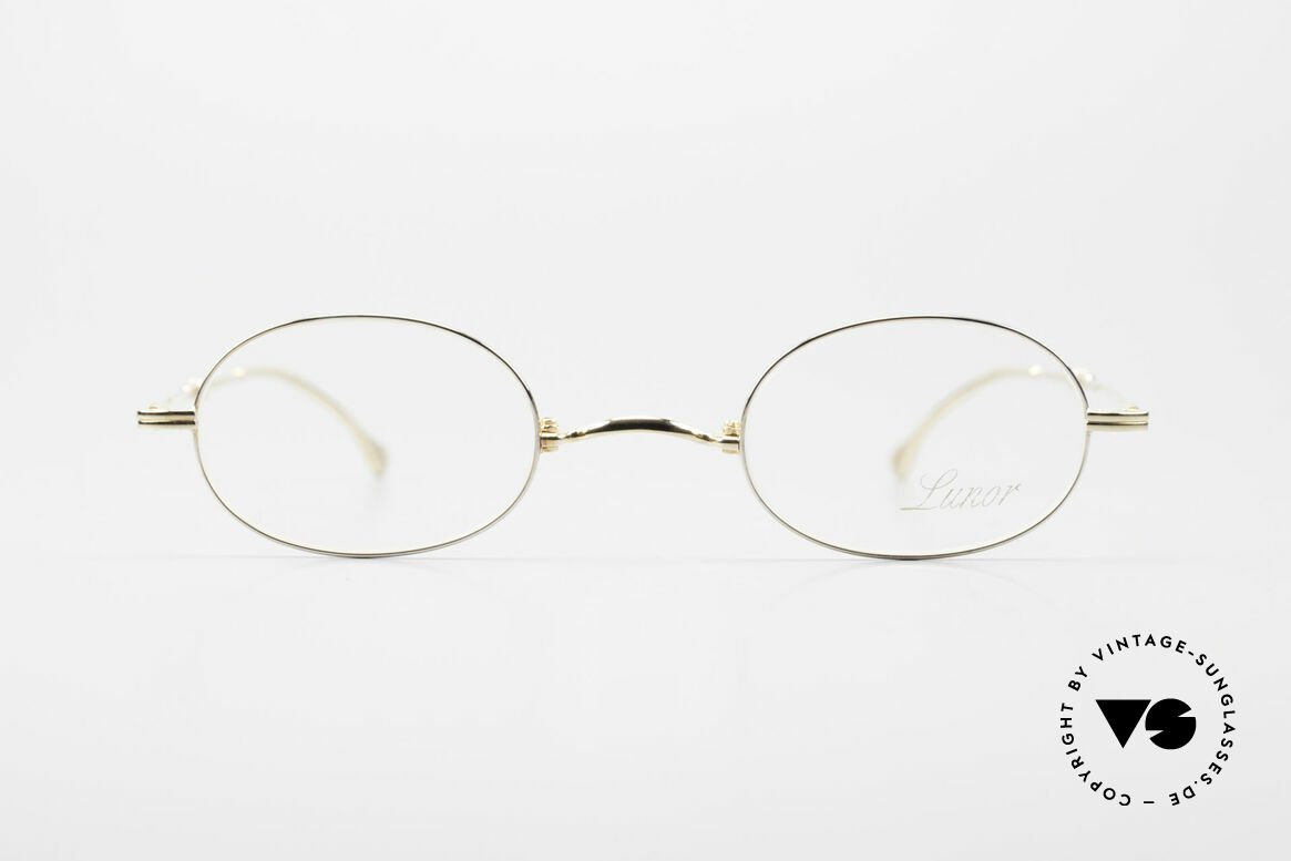 Lunor XXV Folding 04 Oval Foldable Frame Gold Plated, traditional German brand; quality handmade in Germany, Made for Men and Women
