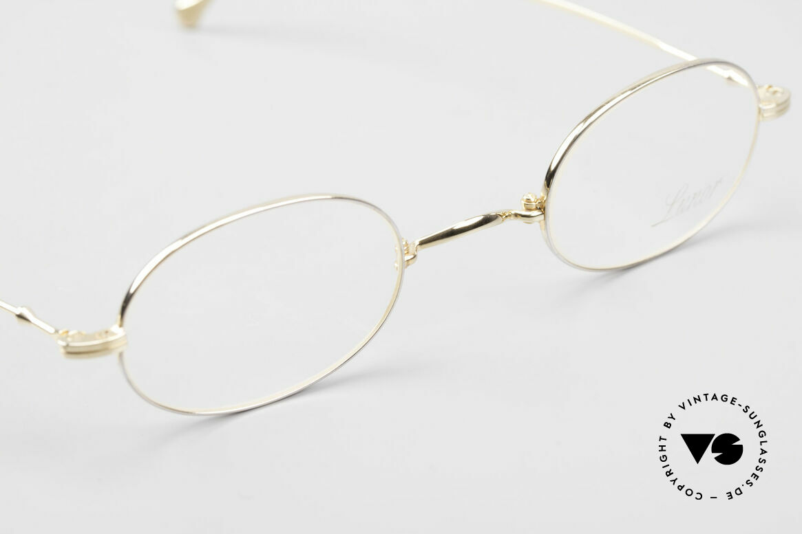 Lunor XXV Folding 04 Oval Foldable Frame Gold Plated, unworn single item (for all lovers of quality), true RARITY, Made for Men and Women