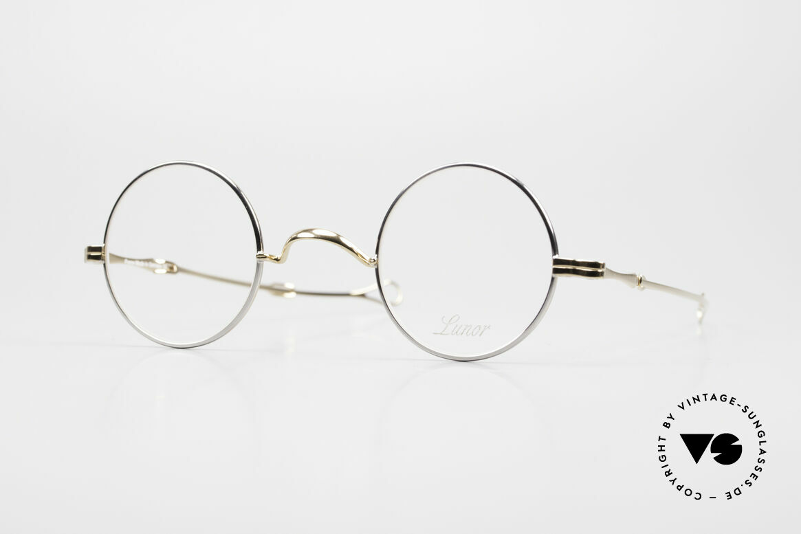 """Lunor I 12 Telescopic Slide Temples Telescopic Specs, Lunor: shortcut for French """"Lunette d'Or"""" (gold glasses), Made for Men and Women"""