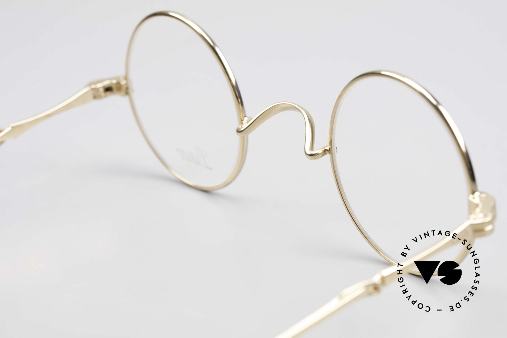 Lunor I 12 Telescopic Slide Temples Telescopic Specs, this precious Lunor frame is GOLD & PLATINUM PLATED, Made for Men and Women