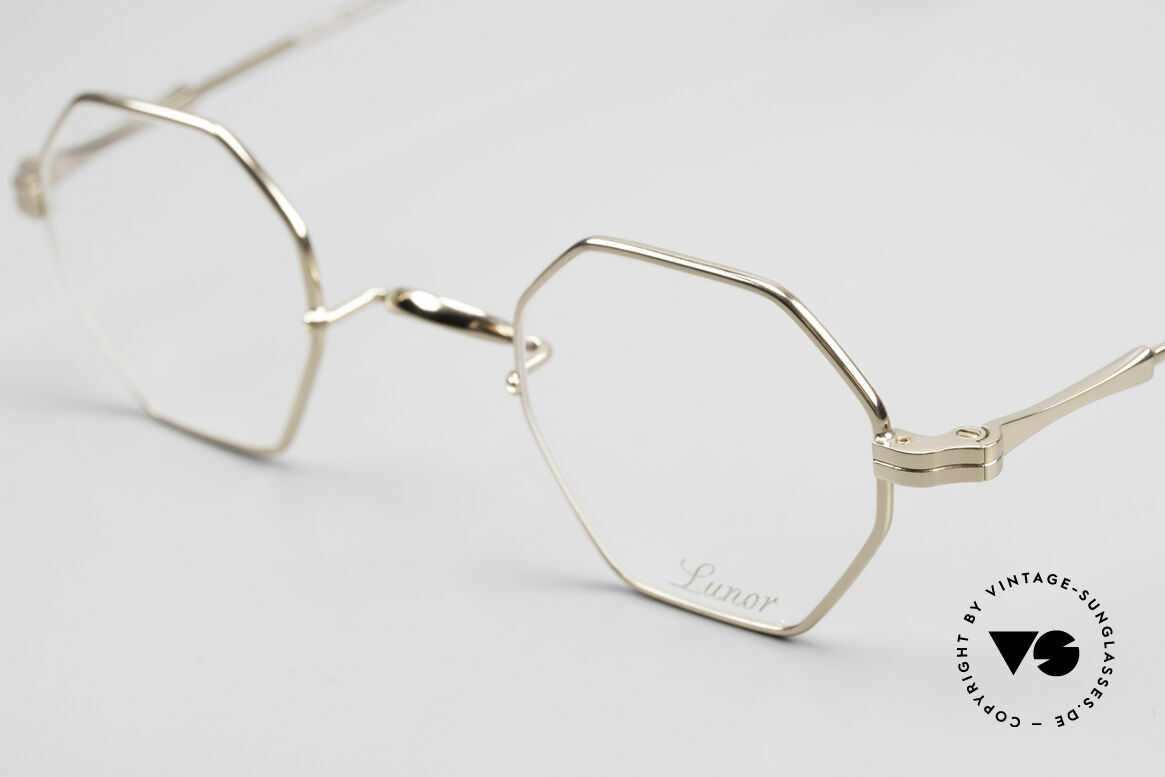 Lunor II 11 Square Panto Frame Gold Plated, unworn single item (for all lovers of quality), true rarity, Made for Men and Women