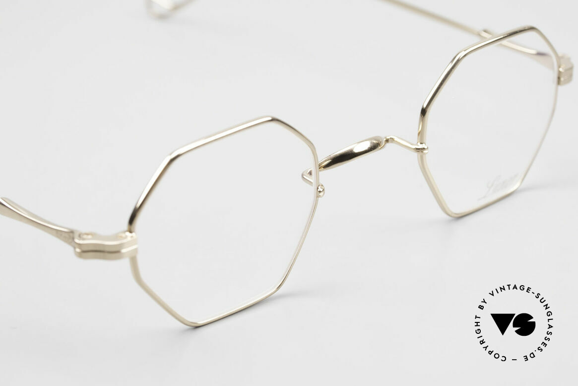 Lunor II 11 Square Panto Frame Gold Plated, NO RETRO EYEGLASSES; but a luxury vintage Original, Made for Men and Women