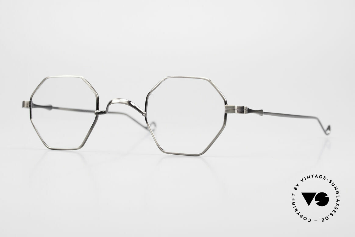 "Lunor II 11 Square Panto Frame XS Small, Lunor: shortcut for French ""Lunette d'Or"" (gold glasses), Made for Men and Women"
