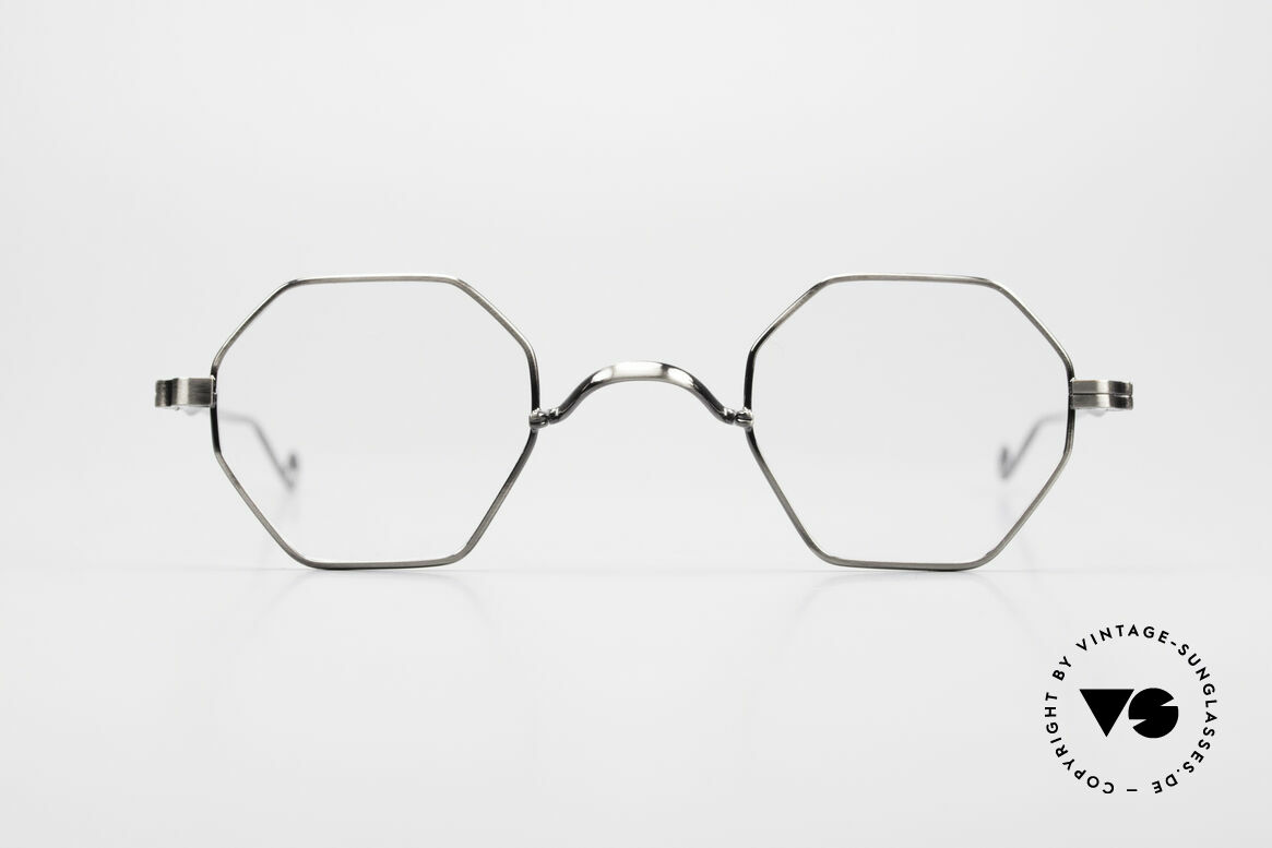 """Lunor II 11 Square Panto Frame XS Small, Lunor: shortcut for French """"Lunette d'Or"""" (gold glasses), Made for Men and Women"""