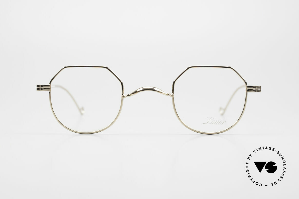 Lunor II 18 Hybrid Panto Frame Gold Plated, traditional German brand; quality handmade in Germany, Made for Men and Women