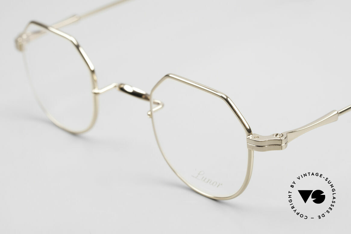 Lunor II 18 Hybrid Panto Frame Gold Plated, unworn single item (for all lovers of quality), true rarity, Made for Men and Women