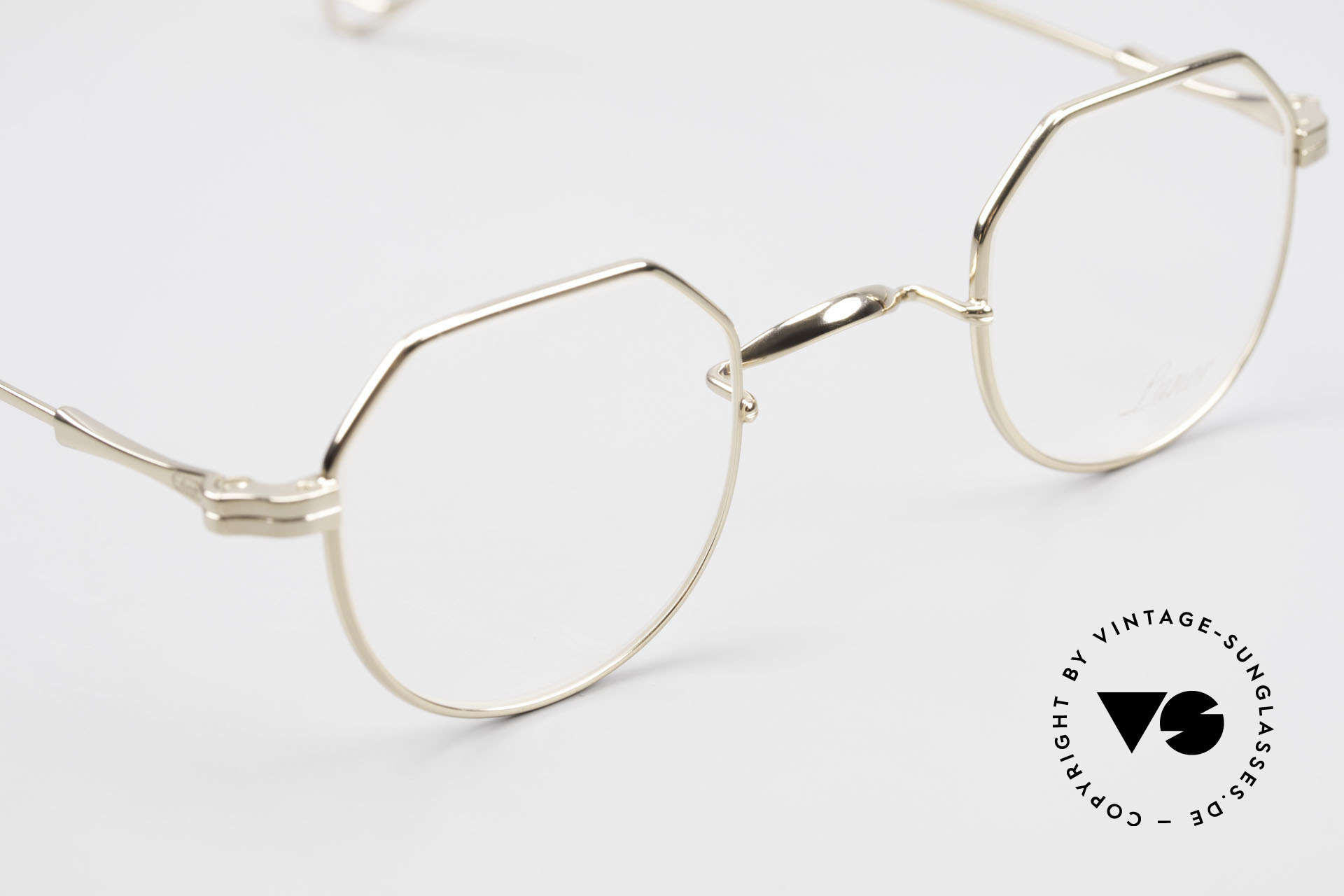 Lunor II 18 Hybrid Panto Frame Gold Plated, NO RETRO EYEGLASSES; but a luxury vintage Original, Made for Men and Women