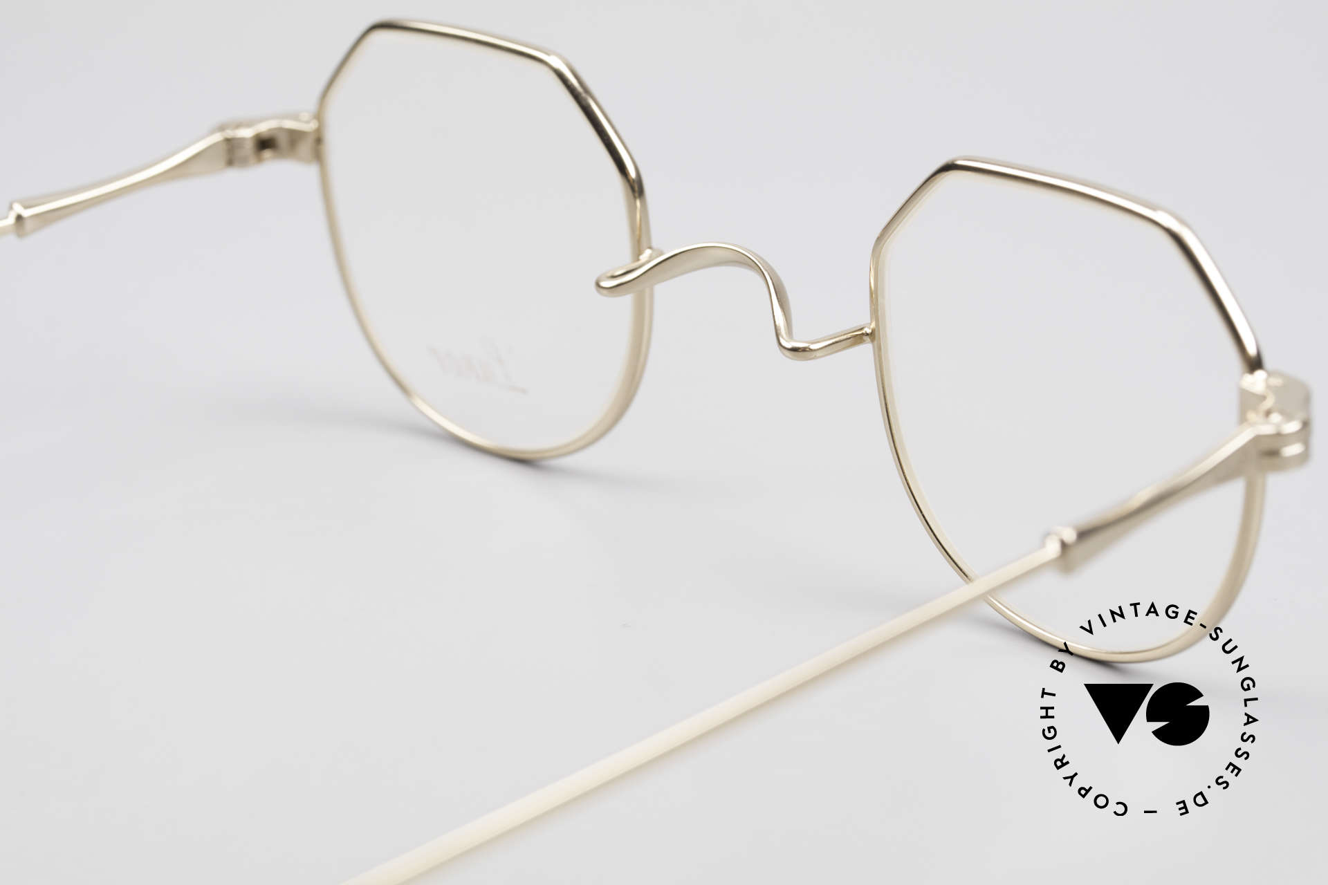 Lunor II 18 Hybrid Panto Frame Gold Plated, Hybrid: square and round shape together, GOLD-PLATED, Made for Men and Women