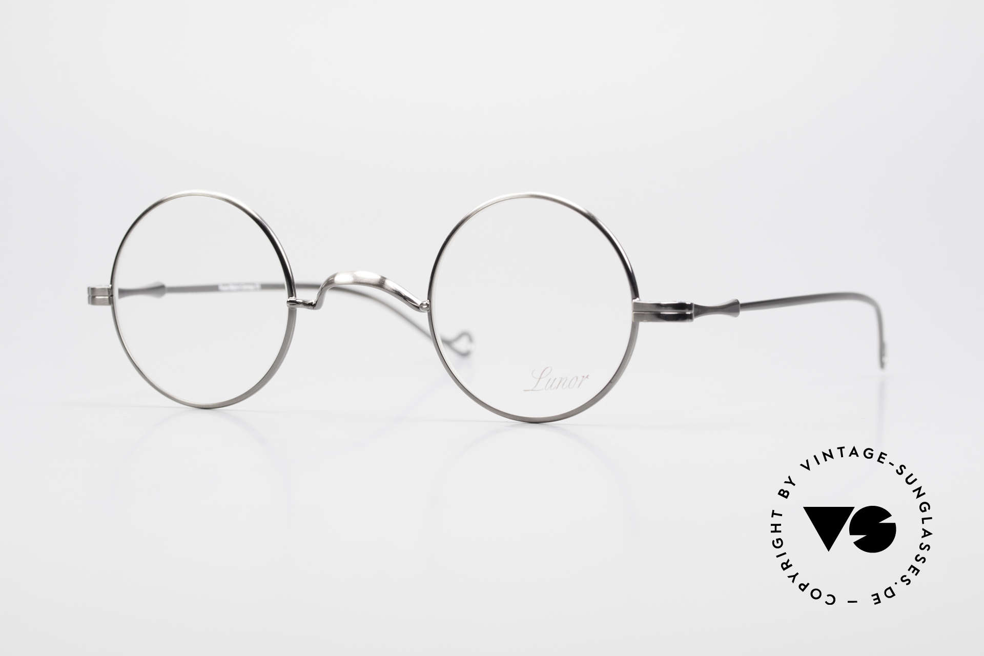 """Lunor II 12 Small Round Luxury Glasses, Lunor: shortcut for French """"Lunette d'Or"""" (gold glasses), Made for Men and Women"""