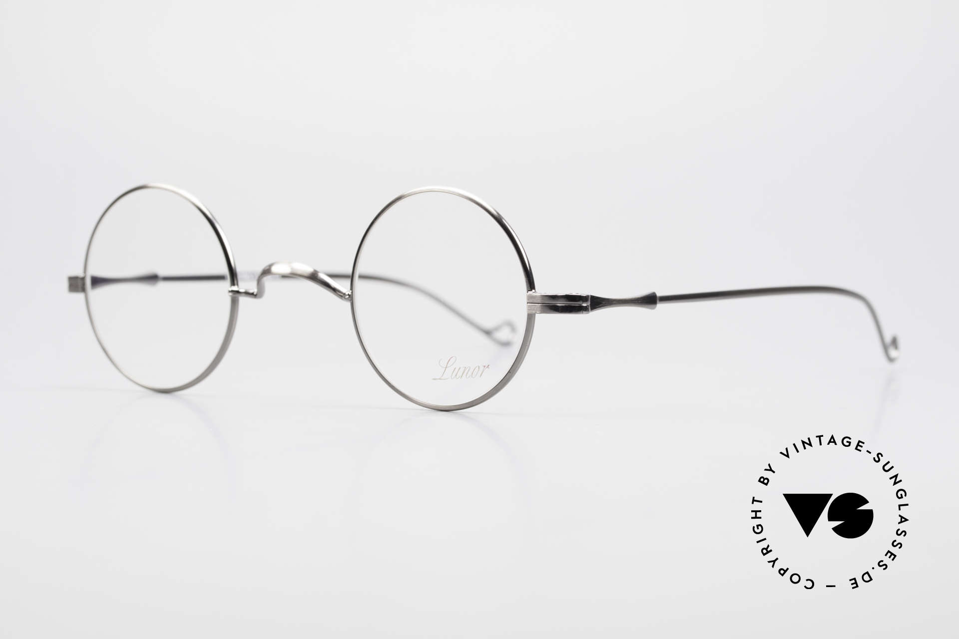 """Lunor II 12 Small Round Luxury Glasses, well-known for the """"W-bridge"""" & the plain frame designs, Made for Men and Women"""