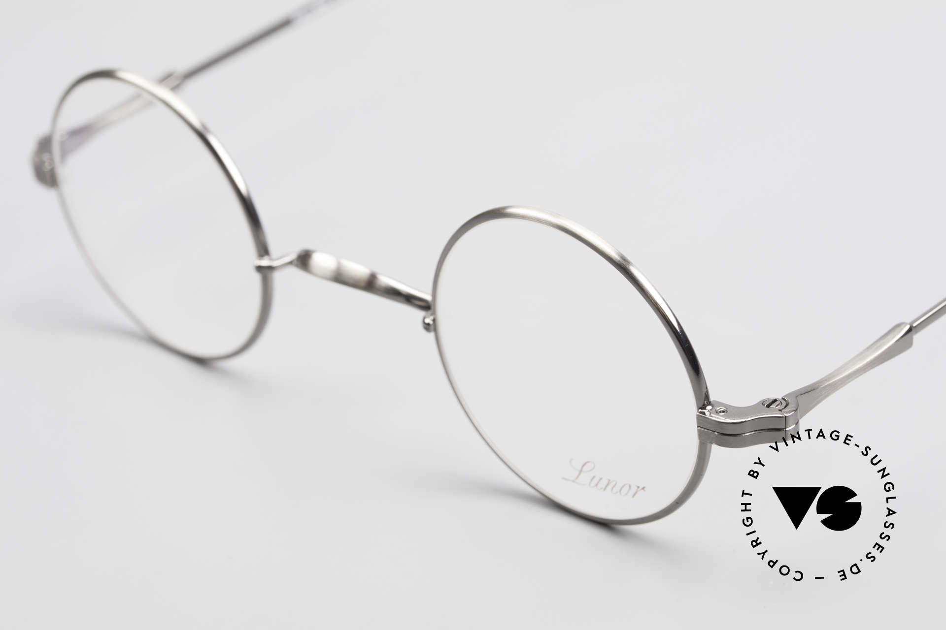 Lunor II 12 Small Round Luxury Glasses, unworn single item (for all lovers of quality), true rarity, Made for Men and Women
