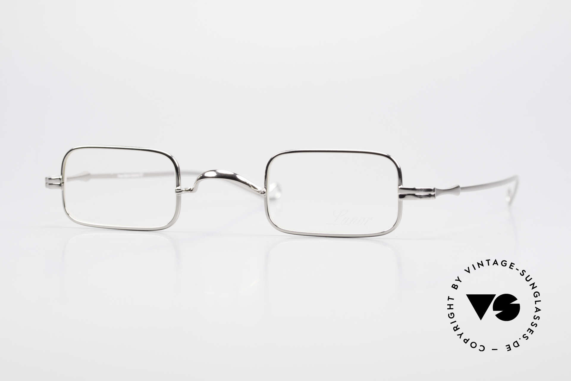 "Lunor II 13 Square Luxury Glasses Small, Lunor: shortcut for French ""Lunette d'Or"" (gold glasses), Made for Men and Women"