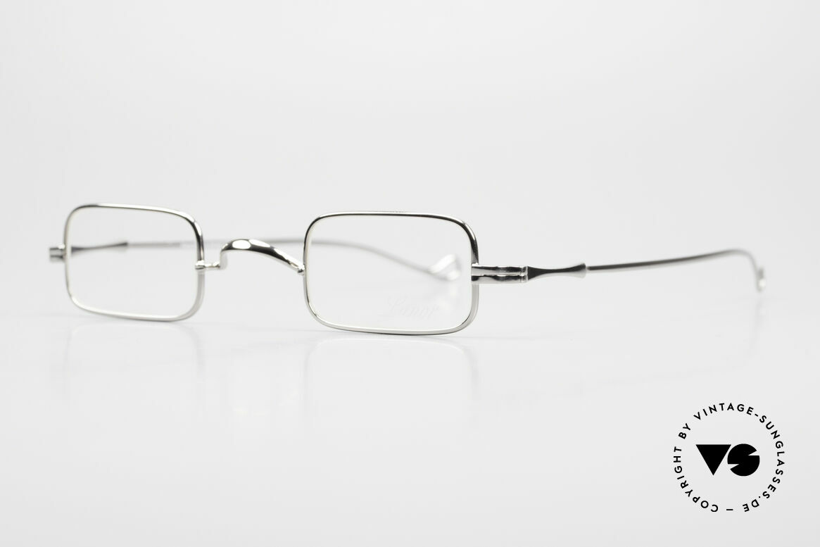 "Lunor II 13 Square Luxury Glasses Small, well-known for the ""W-bridge"" & the plain frame designs, Made for Men and Women"