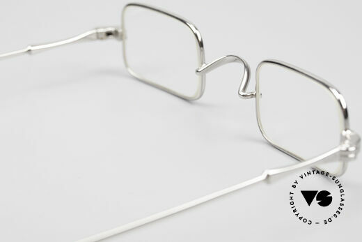 Lunor II 13 Square Luxury Glasses Small, small square luxury eyeglass-frame, PLATINUM-PLATED, Made for Men and Women
