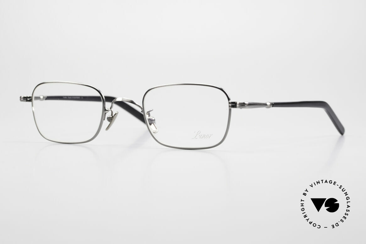 Lunor VA 109 Classic Gentlemen's Glasses, LUNOR: honest craftsmanship with attention to details, Made for Men