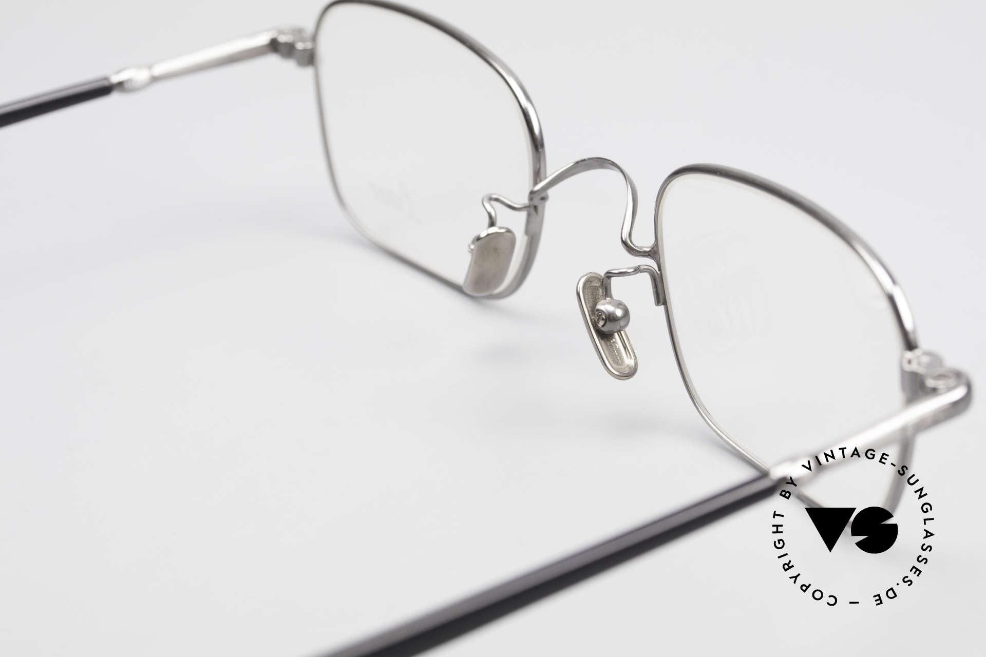 Lunor VA 109 Classic Gentlemen's Glasses, unworn, with acetate temples and titanium nose pads, Made for Men