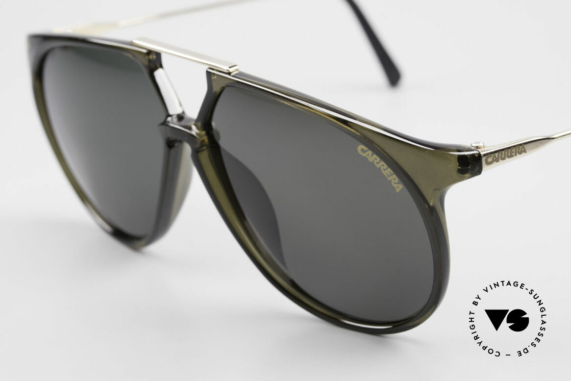 Carrera 5415 XL 80's Shades 2 Sets Of Lenses, 2 sets of lenses: 1x green; 1x brown-gradient (100% UV), Made for Men