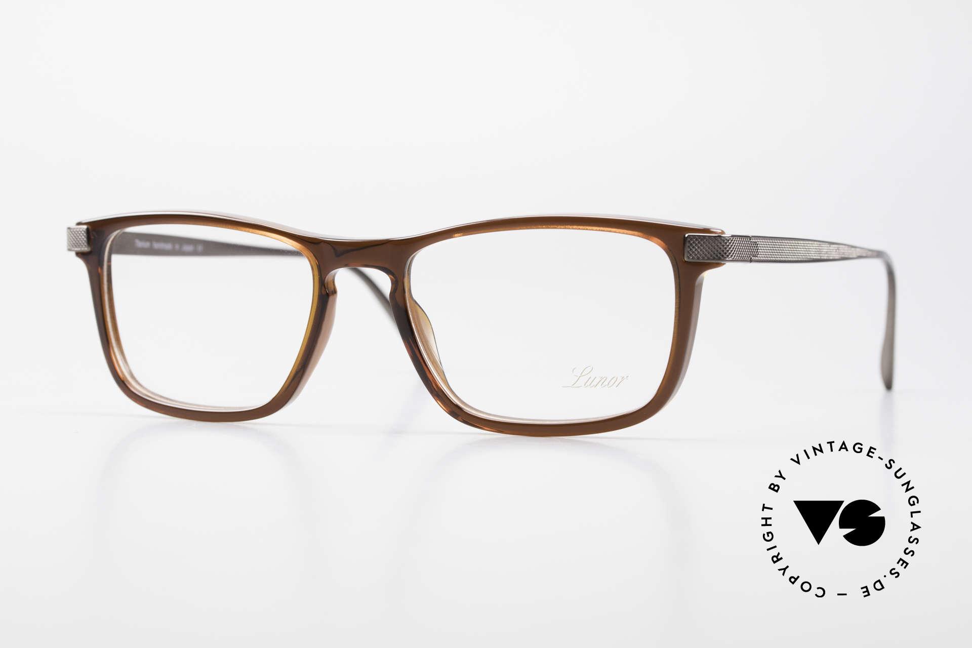 Lunor Imperial Anatomic Titanium Frame 2012 Unisex, LUNOR Imperial Anatomic BR (brown) eyeglass-frame, Made for Men and Women